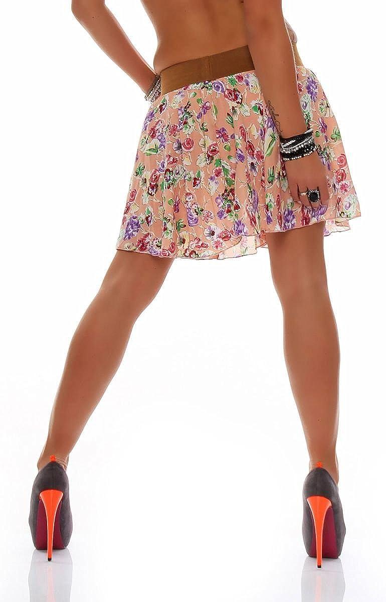 malito verano mini falda tramo midi flores A-línea Mujer Talla ...