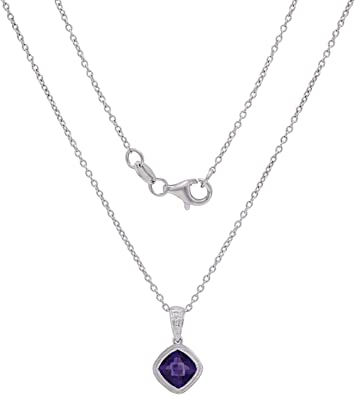 Beautiful Amethyst Pendant Pendant Necklace Gift For Her Solid Sterling Silver Mom Fine Cut Amethyst Amethyst Jewelry Purple Amethyst