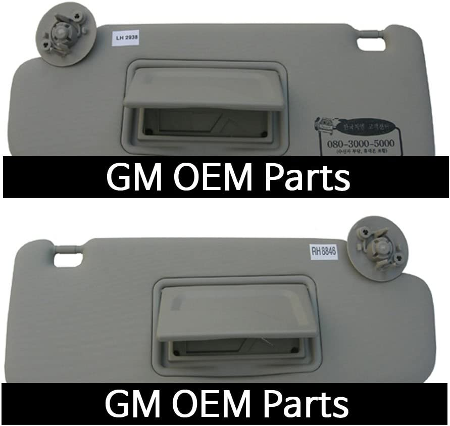 Interior inside Sun Visor Shade RH Gray For GM Chevrolet Sonic 2012 OEM Parts