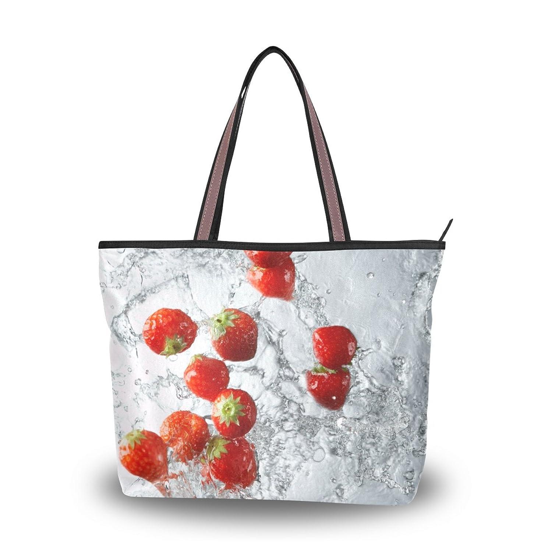 Leezone Life Style Microfiber Shoulder Handbags with Fruit Printing