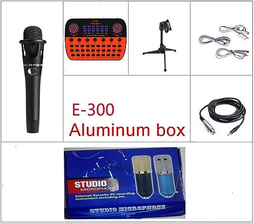Bewinner Live Soundkarte USB Audio Mixer f/ür Handy Computer PC Externe Soundkarte Unterst/ützung Einzelkopfh/örer Karaoke Mikrofon 18 Soundeffekte 6 Effektmodi 112 elektroakustisch