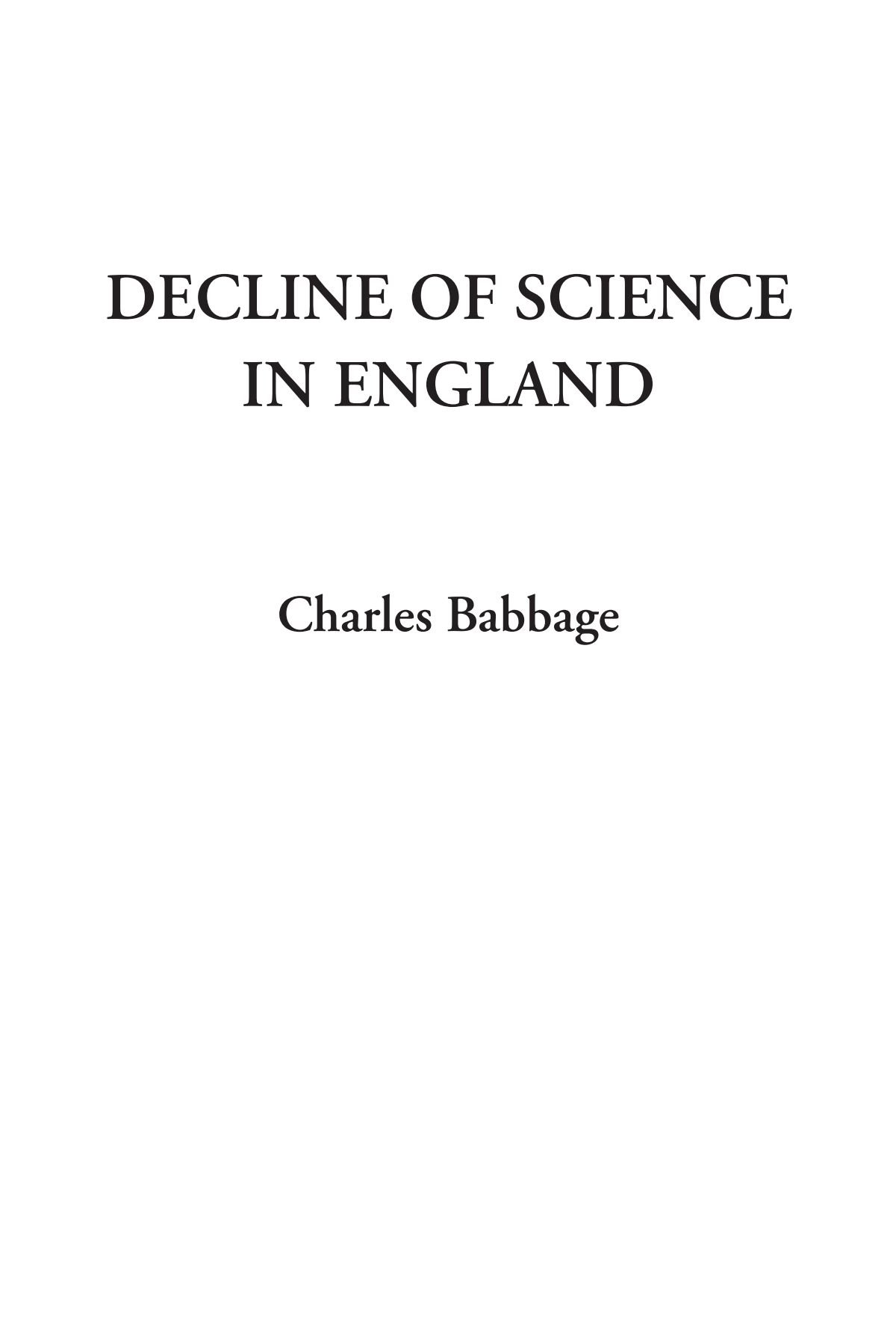 Decline of Science in England pdf epub
