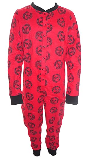 Manchester United Big Boys Onesie Pyjamas (5-6 Years, ...