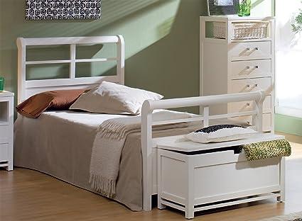 Venta-Muebles - Cama de 90 x 190 blanca mod. barcelona: Amazon.es: Hogar