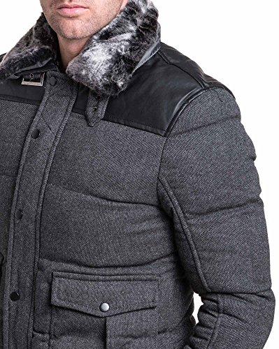 Camicia Camicia Camicia Grigio Grigio Grigio Grigio lunghe Uomo Maniche Gov Cappotto denim Basic fwRPPEq