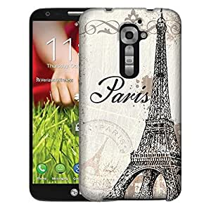 LG Verizon G2 Case, Slim Fit Snap On Cover by Trek Vintage Paris Case
