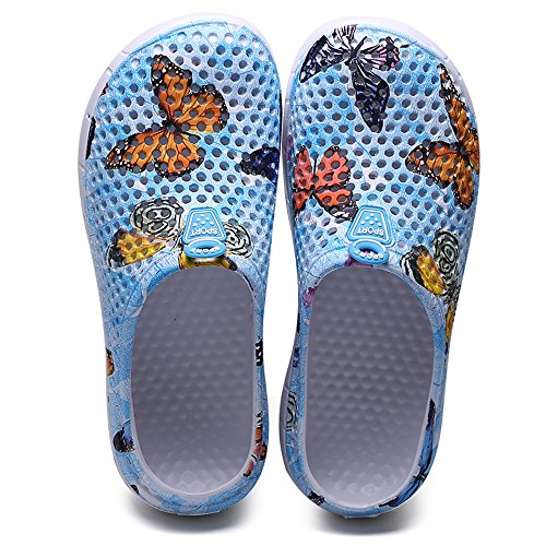 Lightweight Water Shoes Unisex Summer Garden Quick 777 Slippers FZDX Blue Shoes Dry Sandals HvqCww0p