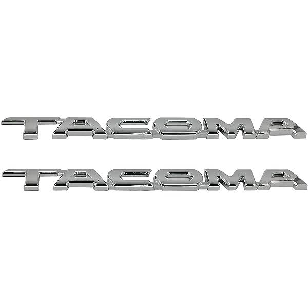 Chrome 5 Pack Sets Chrome Tacoma V6 SR5 Trunk Door /& Tailgate Decal Emblem Sticker Badge