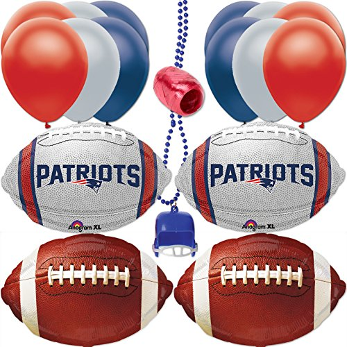 New England Patriots Super Bowl Football Balloon Decorating 18pc Party Goer Pack]()