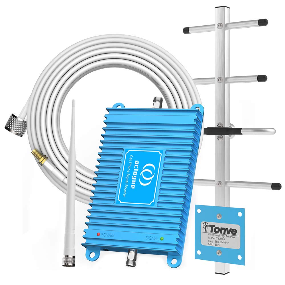 Home Cell Phone Signal Booster for AT&T T-Mobile 4G LTE 700MHz Band 12/17 FDD Mobile Signal Repeater Amplifier Including Outdoor Directional Yagi Antenna and Indoor Omni-Directional Antenna Kits