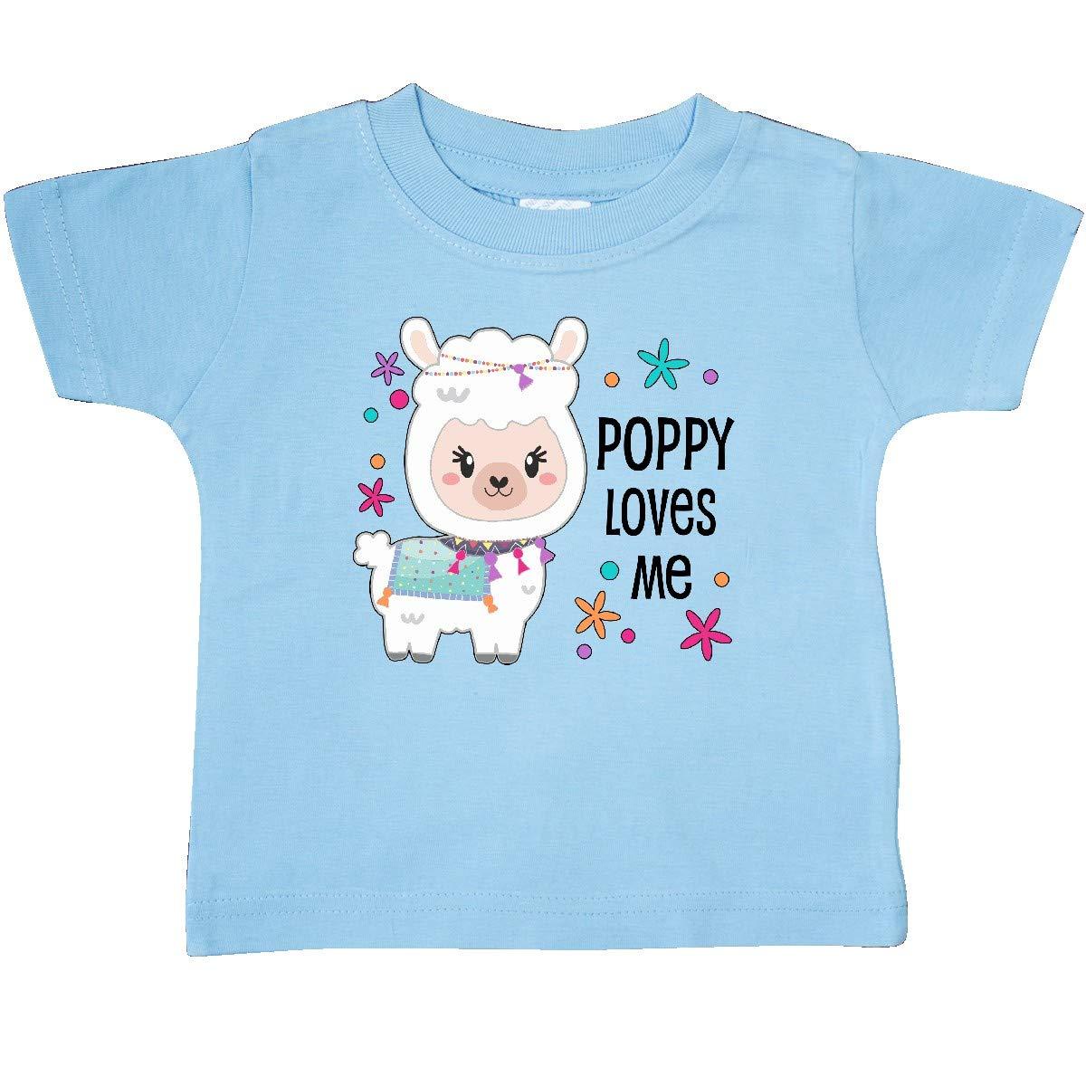 Cute and Happy Llama Baby T-Shirt inktastic Poppy Loves Me