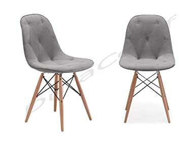 DuraComf (Set of 2) Dining Chair/Side Chair for Living Room/Side Chair for Home/Living Room Chair with Cushion (Grey)