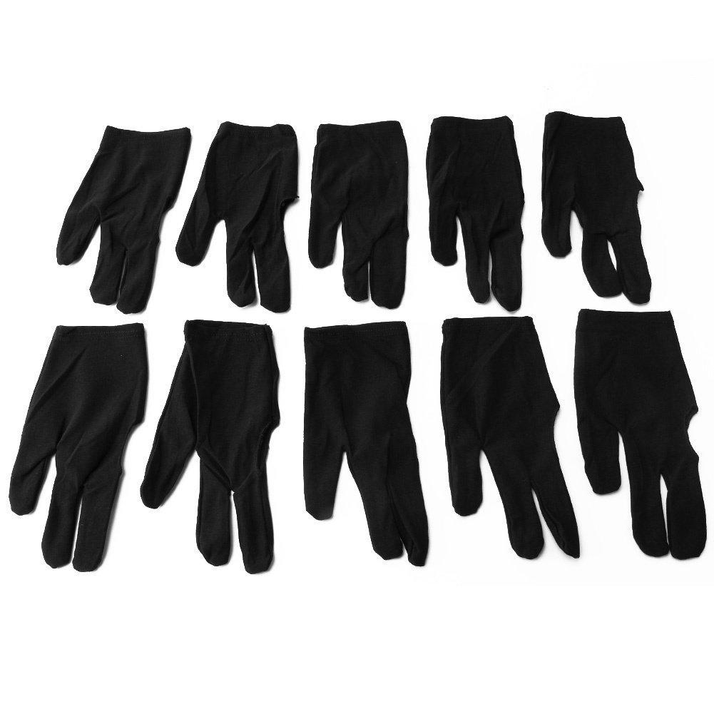 10pcs 3 Finger Elastic Nylon Billiards pool Snooker Cue Shooters Gloves styleinside-uk
