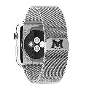 Mount St.Mary's Mountaineers Stainless Steel Band Fits Apple Watch