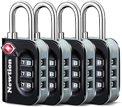 TSA Approved Luggage Locks 3 Digit Combination Heavy Duty Travel Baggage Lock Padlock and Suitcase Lock (Black 2 Pack) ¡: Amazon.es: Bricolaje y herramientas