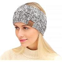 REGOU Head Wrap Headband Cable Knit Ear Warmer Muff Headband For Women Men Cold Winter