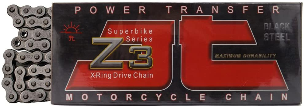 JT Sprockets 106 Link JTC520Z3106RL Steel 106-Link Super Heavy Duty X-Ring Drive Chain (520Z3)