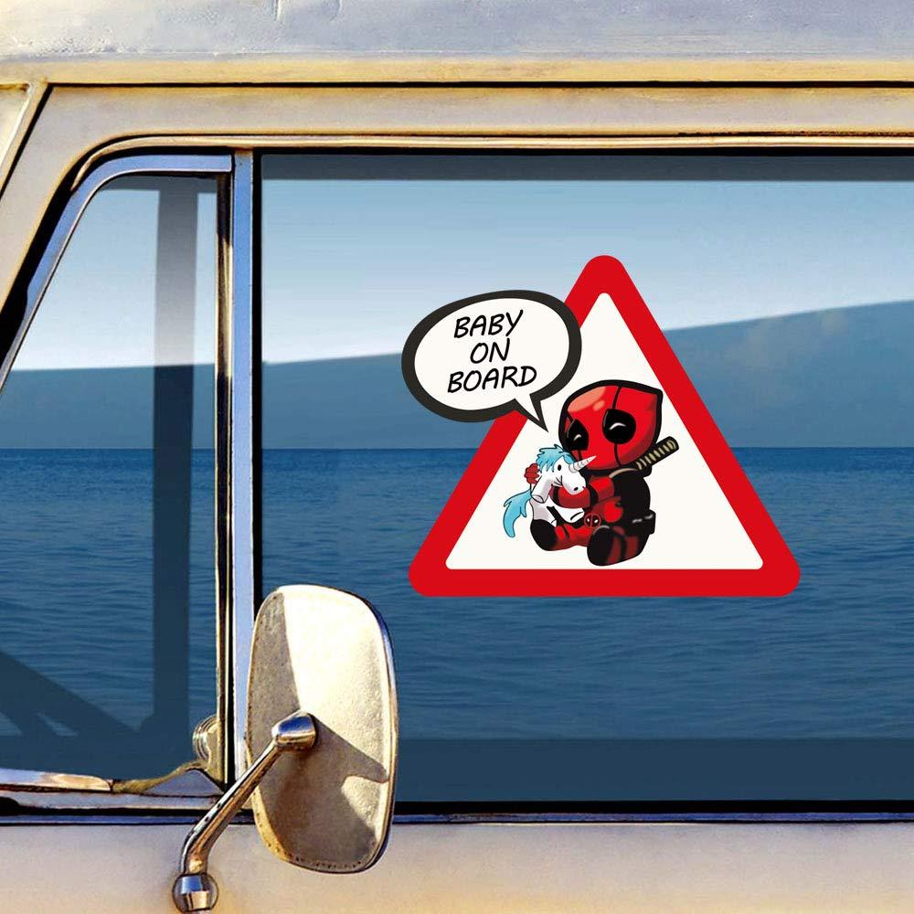 Autocollant Voiture B/éb/é /à bord Spiderman Deadpool Baby on Board car Sticker Baby an Bord Aufkleber