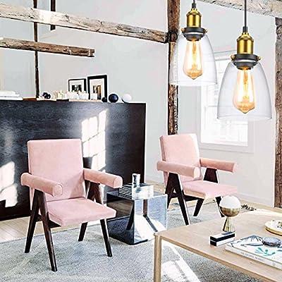 Oak Leaf Lámpara de techo Luz colgante Industrial estilo retro pantalla, cable de 1m, E27, 220-240V Ideal para Habitación Salón Cocina Restaurante ...