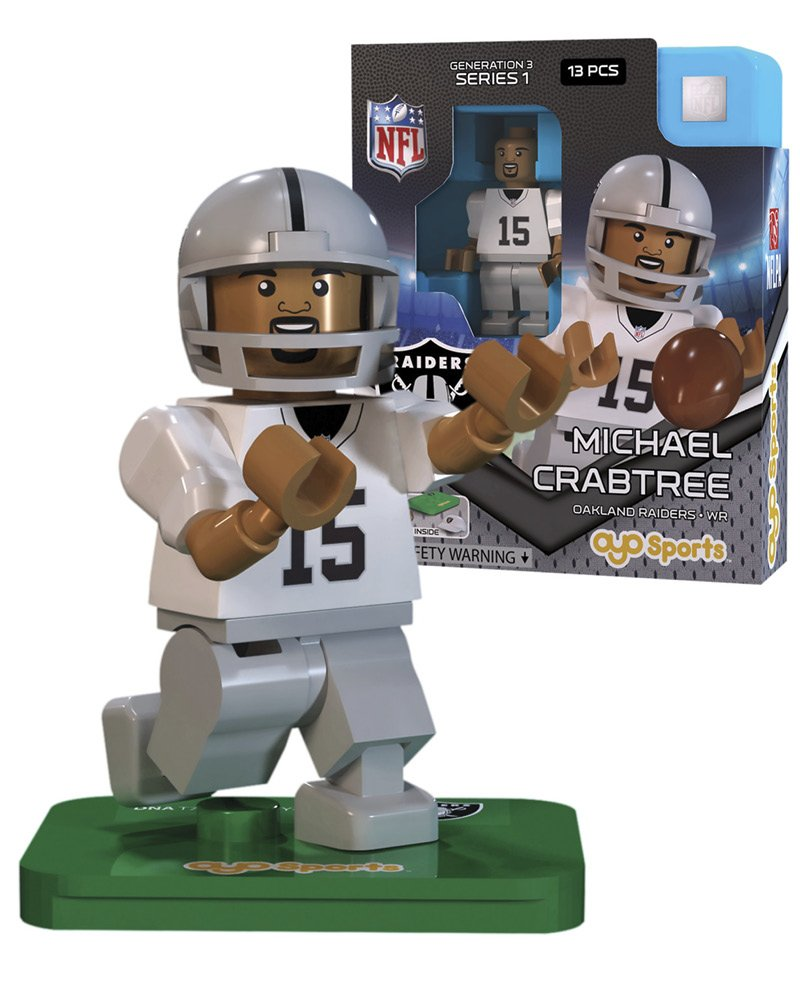 【限定価格セール!】 NFL gen3 Oakland Crabtree gen3 Raiders Michael Crabtree Limited B010C7PGLS Edition S、シルバー、ミニフィギュア B010C7PGLS, 坂町:63922bcc --- movellplanejado.com.br