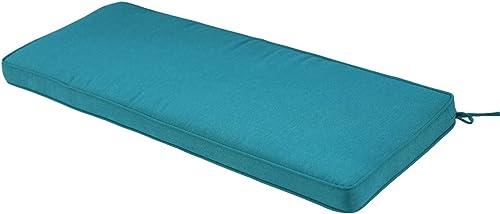 Patio Furniture Outdoor Bench Cushion Olefin Fabric Slipcover Sponge Foam 46.5 x 17.5 x 3