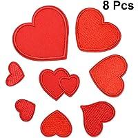 SUPVOX 8 piezas Parches Ropa Termoadhesivos De Corazón