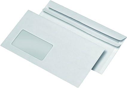 Din Lang sobres con ventana autoadhesivas blanco 110x220mm sobres