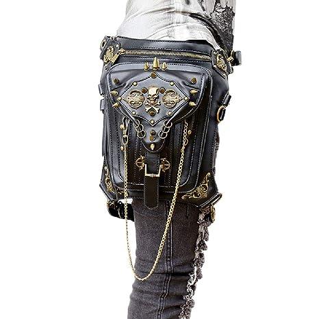 Retro Pelle borse Tracolla Borsa Ghhh Rock Con Punk Per A In Steampunk Donna vT6wqtU6