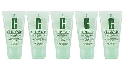 Clinique Liquid Facial Soap Mild Dry Combination – 150ml 5 X 30mls New