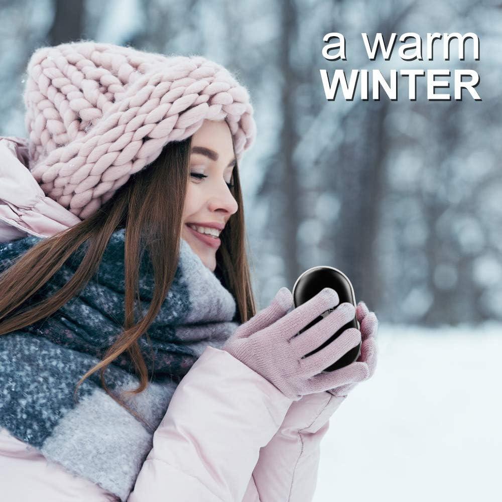 PERFECTO como idea de regalo de invierno para familiares y amigos Ideal para pacientes con Raynaud o problemas de artritis se calienta r/ápido VEIERSIA Calentador de manos recargable 5200mAh de energ/ía recargable Alivio de dolores