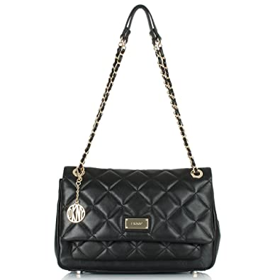 dec751d2bfe DKNY Black Leather Harry Quilted Crossbody Bag Black Leather  Amazon ...