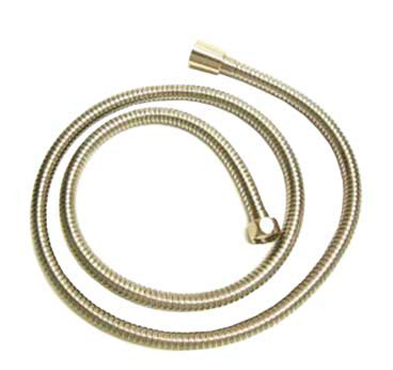 Whitehaus WH10301-POCH Brass 59-Inch Double Interlock Shower Hose, Polished Chrome
