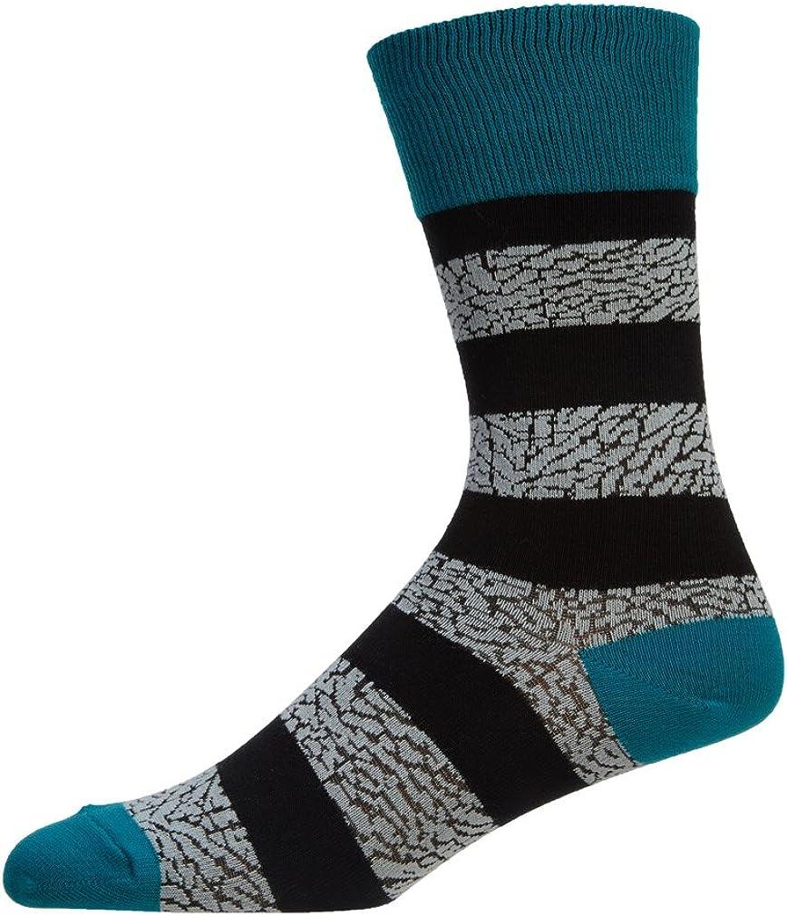 9-11 9 Size: MD 647688-310-MD Jordan Elephant Striped Crew Socks Unisex Style