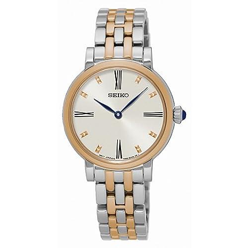 0c71c26ef5f9 Seiko Reloj Mujer Clásico Acero Bicolor sfq816p1  Amazon.es  Joyería