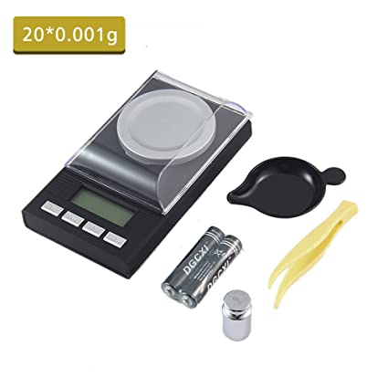 Digital Milligram Scale, AOLVO 50 x 0,001 g Digital miligramo báscula multifuncional Mini electrónico de