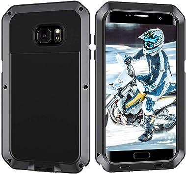 Beeasy Funda Samsung Galaxy S7 Edge,Antigolpes Rígida Robusta Antigravedad Carcasa Resistente al Impacto Militar Duradera Blindada Fuerte de Seguridad al Aire Libre Case Cover,Negro: Amazon.es: Electrónica