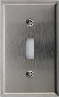 Brushed Satin Stainless Steel One Gang Duplex Outlet Wall Plate