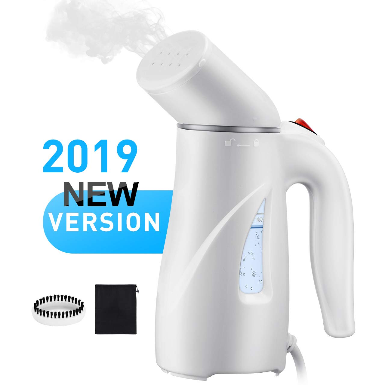 PICTEK Steamers for Clothes, Fast Heat-up Handheld Garment Steamer, Compact Portable Wrinkle Remover Fabric Steamer with Automatic Shut-off, Pouch for Travel, Home, Office, 110ml YTGEHM223AWUS