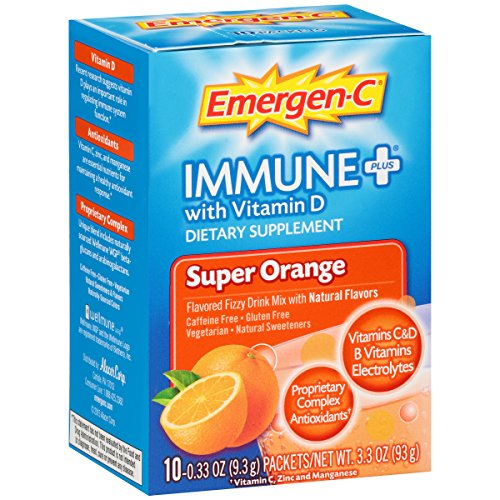 Emergen-C Immune Plus Packets, Super Orange, 10 ct, 3.3 oz
