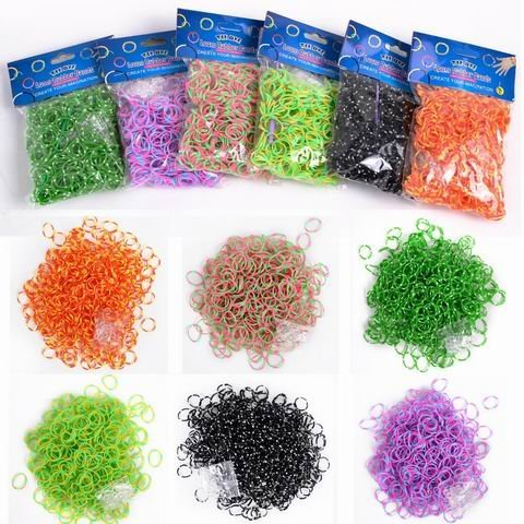 Safstar DIY Magical 600 pcs Colorful for Rainbow Loom Refill Rubber Bands with Clips Kit