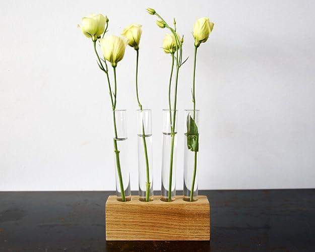 Test tube vases design decoration for Test tube flower vase rack