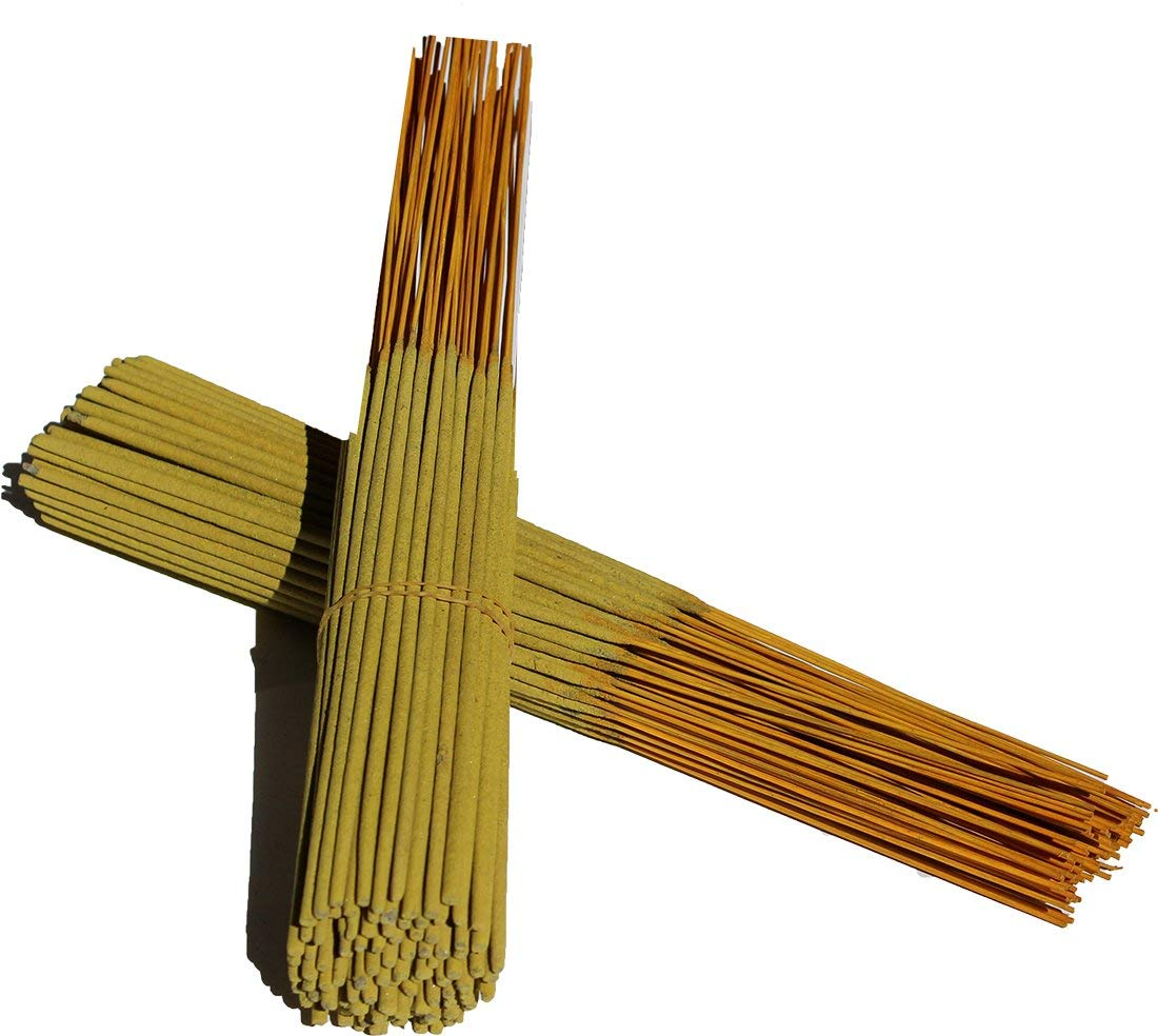 monthlysupply Unscented Incense Sticks Yellow Color Sticks 11'' Punk Approx. 1000 Sticks - 10 Bundles by monthlysupply (Image #1)
