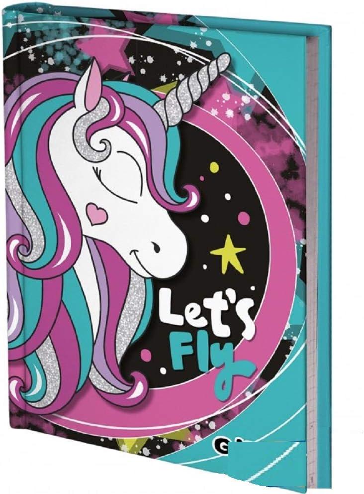 Diario Scuola Gopop Unicorno Non Datato 10 Mesi 20x14 cm Penna Colorata Omaggio