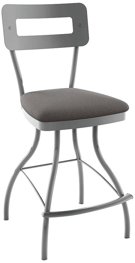 Pleasant Amazon Com Amisco Cora Swivel Metal Counter Stool With Bralicious Painted Fabric Chair Ideas Braliciousco