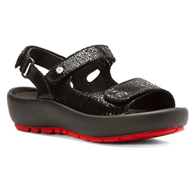Wolky Womens 3325 Rio Black Crash Sandal - 36