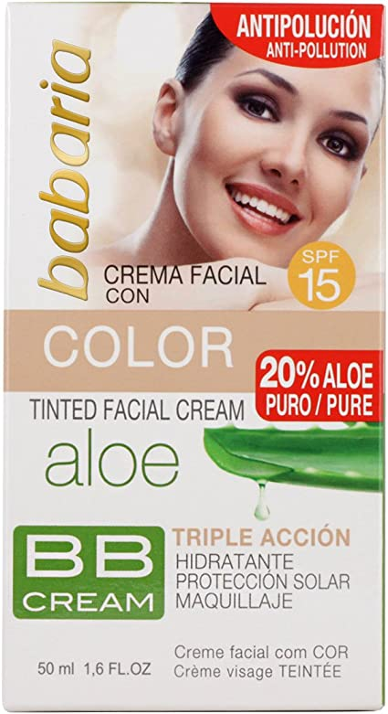 Babaria Aloe Vera Cr. Color Bb Cream Spf15 50 ml: Amazon.es: Belleza