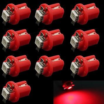 HopeU5® Red T5 B8.5D 5050 1-SMD Tablero de instrumentos del coche