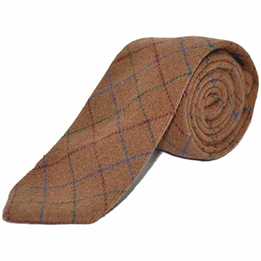 a7ede9b47a39 Image Unavailable. Image not available for. Color: Heritage Check Rustic  Brown Necktie ...