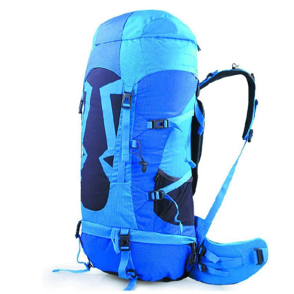 アウトドア 登山バッグ 70L 男女兼用 旅行 ハイキング バックパック (ブルー)  A B07GT1KDVJ
