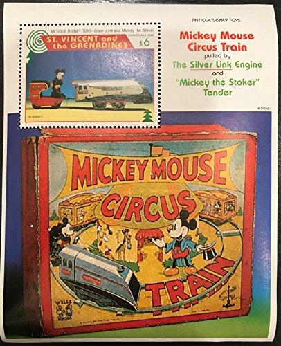 (Disney Collectors Stamp - Mickey Mouse Circus train Souvenir Sheet - Saint Vincent)